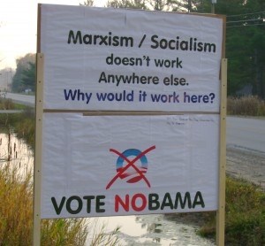 NOBAMA Sign for Election day.