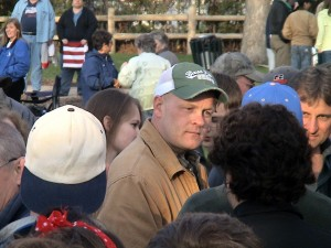 Joe Speaks with Petoskey Tea Party Atendees after the event.